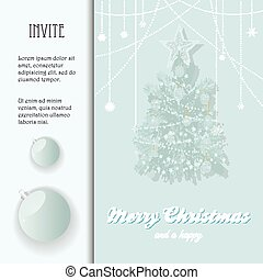 Christmas invite with bauble