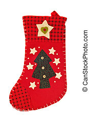Christmas is coming - Red stocking for gifts