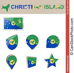 Christmas Island Flag Set, Flag Set