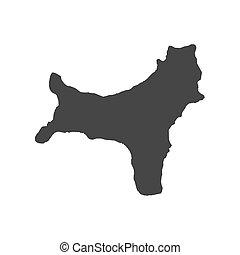 Map christmas island. Map and flag from christmas island.