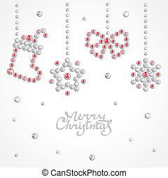 Christmas jewel background - Christmas background with...