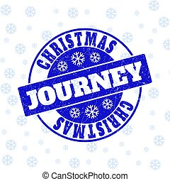 Christmas Journey Scratched Round Stamp Seal for Christmas