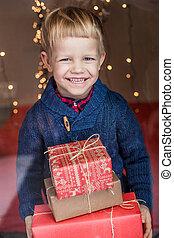 Christmas. Kid. Gift. Present