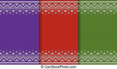 Christmas knit seamless pattern. Vector illustration.