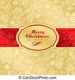 christmas label background, scalable and editable vector illustration;