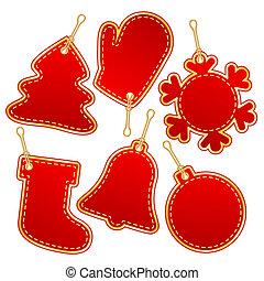 christmas label design elements