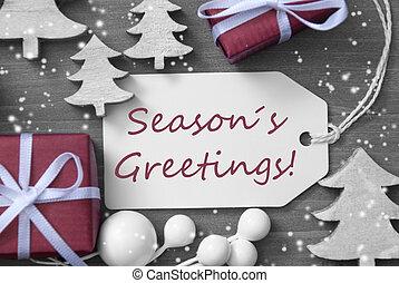 Christmas Label Gift Tree Snowflakes Seasons Greetings - ...