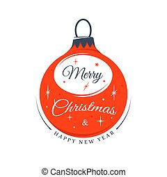 Christmas label isolated on white background