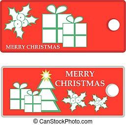 Christmas label isolated on white backgrround