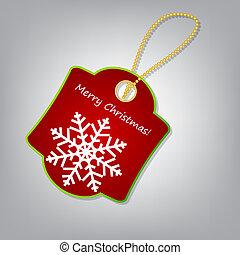 Christmas label vector illustration