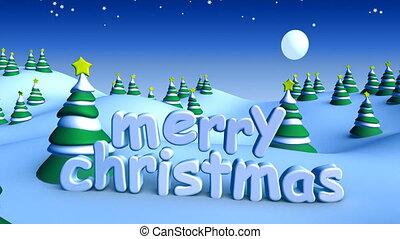 Christmas landscape 01