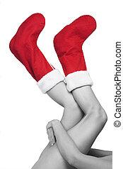 Christmas Legs and Stockings