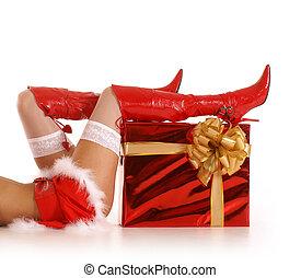Christmas legs