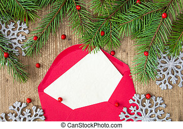 Christmas letter with copy-space