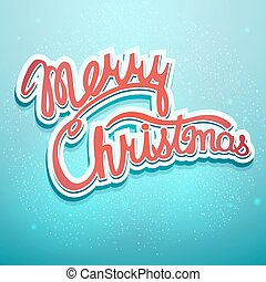 Christmas lettering on a blue background
