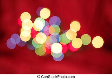 Christmas Light Abstract - Christmas lights defocused to...