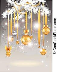 Christmas light background.