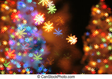 Christmas light background. Nice xmas background from the christmas ...