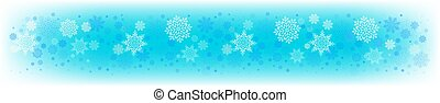 Christmas light blue background with a set of beautiful snowflakes