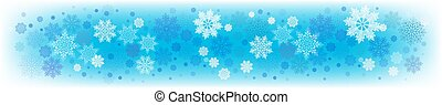 Christmas light blue background with a set of delicate snowflakes.