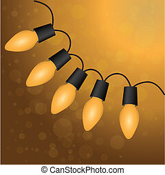 Christmas light bulbs. Vector