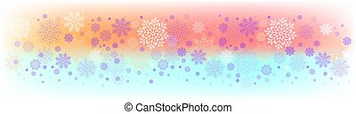 Christmas light colorful background with a set of beautiful snowflakes