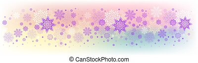 Christmas light colorful design with a set of beautiful snowflakes