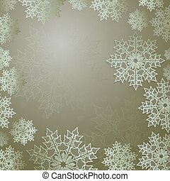 Christmas light design with a set of graceful white snowflakes,