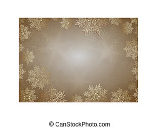 Christmas light design with a set of slender snowflakes of gold color.