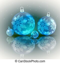Christmas light design with blue balls