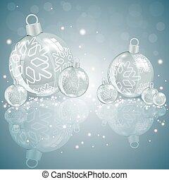 Christmas light design with glass balls