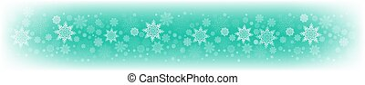 Christmas light green background with a set of beautiful snowflakes