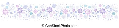 Christmas light purple background with a set of beautiful snowflakes
