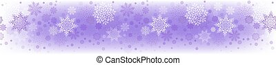Christmas light purple composition with a set of beautiful snowflakes