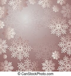 Christmas light red background with a set of graceful white snowflakes.