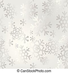 Christmas light seamless pattern of big and small snowflakes.