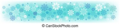 Christmas light turquoise background with a set of elegant snowflakes.