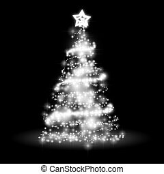 An image of a nice christmas tree lights background
