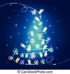 Christmas lights background. Vector design concept