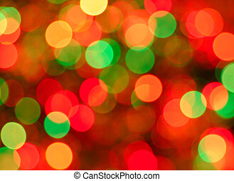 Christmas lights background. Defocused image of