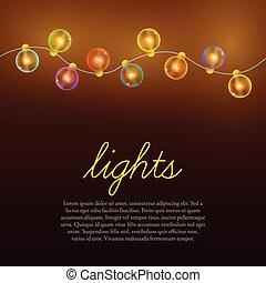 Christmas lights background.
