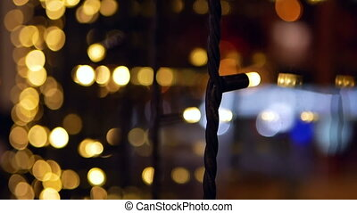 Christmas lights bokeh - Abstract blurred christmas lights...