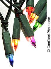 Christmas lights - Christmas colorful fairy lights glowing...