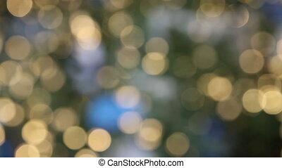 Christmas lights defocused