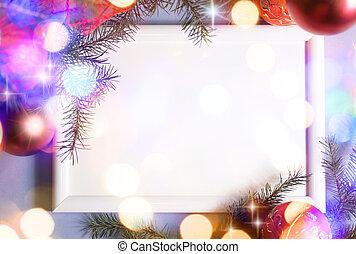 Christmas lights frame