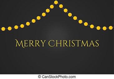 Christmas lights greeting card.