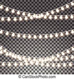 Christmas Color Lights String Transparent Effect Decoration