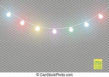 Creative Vector Illustration Of Illuminated Realistic Shine String