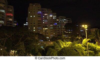 Christmas Lights On Apartment Buildings