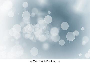Christmas lights on blue background.